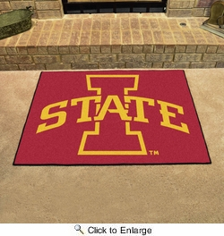 "Fan Mats 10  ISU - Iowa State University Cyclones 33.75"" x 42.5"" All-Star Series Area Rug / Mat"