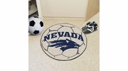 "Fan Mats 1000  UNR - University of Nevada, Reno Wolf Pack 27"" Diameter Soccer Ball Shaped Area Rug"