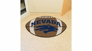 "Fan Mats 1001  UNR - University of Nevada, Reno Wolf Pack 20.5"" x 32.5"" Football Shaped Area Rug"