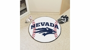 "Fan Mats 1002  UNR - University of Nevada, Reno Wolf Pack 27"" Diameter Baseball Shaped Area Rug"