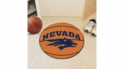 "Fan Mats 1003  UNR - University of Nevada, Reno Wolf Pack 27"" Diameter Basketball Shaped Area Rug"