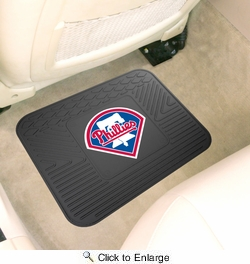 "Fan Mats 10038  MLB - Philadelphia Phillies 14"" x 17"" Vinyl Utility Mat (1 each)"