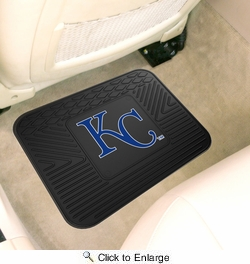 "Fan Mats 10043  MLB - Kansas City Royals 14"" x 17"" Vinyl Utility Mat (1 each)"