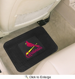 "Fan Mats 10056  MLB - St Louis Cardinals 14"" x 17"" Vinyl Utility Mat (1 each)"