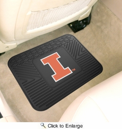 "Fan Mats 10071  University of Illinois Fighting Illini 14"" x 17"" Vinyl Utility Mat (1 each)"