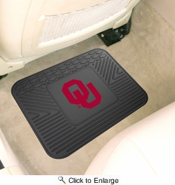 "Fan Mats 10083  OU - University of Oklahoma Sooners 14"" x 17"" Vinyl Utility Mat (1 each)"