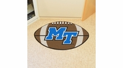 "Fan Mats 101  MTSU - Middle Tennessee State University Blue Raiders 20.5"" x 32.5"" Football Shaped Area Rug"