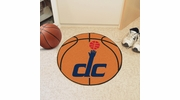 "Fan Mats 10192  NBA - Washington Wizards 27"" Diameter Basketball Shaped Area Rug"