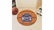 "Fan Mats 10197  NBA - Sacramento Kings 27"" Diameter Basketball Shaped Area Rug"