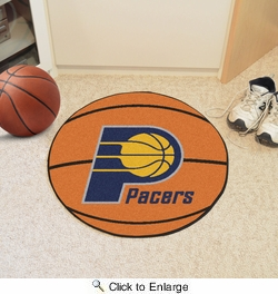 "Fan Mats 10211  NBA - Indiana Pacers 27"" Diameter Basketball Shaped Area Rug"