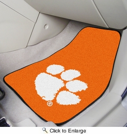 "Fan Mats 10234  Clemson University Tigers 17"" x 27"" 2-pc Carpet Car Mat Set"