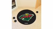 "Fan Mats 10269  NHL - Minnesota Wild 27"" Diameter Puck-Shaped Area Rug"