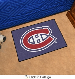 "Fan Mats 10274  NHL - Montreal Canadiens 19"" x 30"" Starter Series Area Rug / Mat"