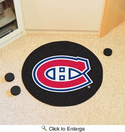 "Fan Mats 10275  NHL - Montreal Canadiens 27"" Diameter Puck-Shaped Area Rug"