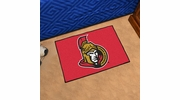 "Fan Mats 10276  NHL - Ottawa Senators 19"" x 30"" Starter Series Area Rug / Mat"