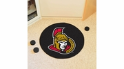 "Fan Mats 10277  NHL - Ottawa Senators 27"" Diameter Puck-Shaped Area Rug"