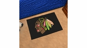 "Fan Mats 10278  NHL - Chicago Blackhawks 19"" x 30"" Starter Series Area Rug / Mat"