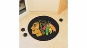 "Fan Mats 10279  NHL - Chicago Blackhawks 27"" Diameter Puck-Shaped Area Rug"