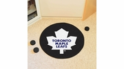 "Fan Mats 10283  NHL - Toronto Maple Leafs 27"" Diameter Puck-Shaped Area Rug"