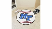 "Fan Mats 103  MTSU - Middle Tennessee State University Blue Raiders 27"" Diameter Baseball Shaped Area Rug"