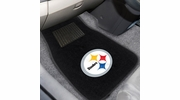 Fan Mats 10302  NFL - Pittsburgh Steelers 2-pc Embroidered Car Mat Set