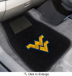 Fan Mats 10303  West Virginia University Mountaineers 2-pc Embroidered Car Mat Set
