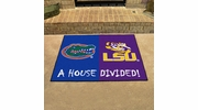 "Fan Mats 10304  Florida Gators vs Louisiana State Tigers 33.75"" x 42.5"" House Divided Mat"