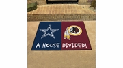 "Fan Mats 10307  NFL - Dallas Cowboys vs Washington Redskins 33.75"" x 42.5"" House Divided Area Rug / Mat"