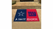 "Fan Mats 10308  NFL - Dallas Cowboys vs New York Giants 33.75"" x 42.5"" House Divided Area Rug / Mat"