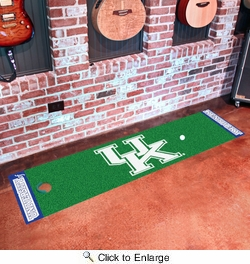 "Fan Mats 10320  UK - University of Kentucky Wildcats 18"" x 72"" Putting Green Mat"