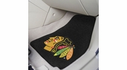 "Fan Mats 10338  NHL - Chicago Blackhawks 17"" x 27"" Carpeted Car Mat Set"