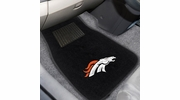 Fan Mats 10348  NFL - Denver Broncos 2-pc Embroidered Car Mat Set