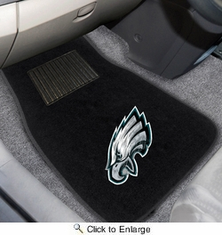 Fan Mats 10350  NFL - Philadelphia Eagles 2-pc Embroidered Car Mat Set