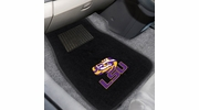 Fan Mats 10353  Louisiana State University Tigers 2-pc Embroidered Car Mat Set