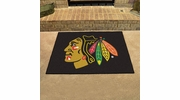 "Fan Mats 10368  NHL - Chicago Blackhawks 33.75"" x 42.5"" All-Star Series Area Rug / Mat"
