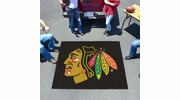 Fan Mats 10369  NHL - Chicago Blackhawks 5' x 6' Tailgater Mat / Area Rug