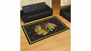 Fan Mats 10376  NHL - Chicago Blackhawks 5' x 8' Area Rug