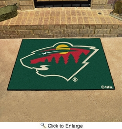 "Fan Mats 10394  NHL - Minnesota Wild 33.75"" x 42.5"" All-Star Series Area Rug / Mat"