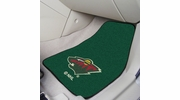"Fan Mats 10397  NHL - Minnesota Wild 17"" x 27"" Carpeted Car Mat Set"