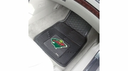 "Fan Mats 10398  NHL - Minnesota Wild 17"" x 27"" Heavy Duty Vinyl Car Mat Set"