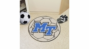 "Fan Mats 104  MTSU - Middle Tennessee State University Blue Raiders 27"" Diameter Soccer Ball Shaped Area Rug"