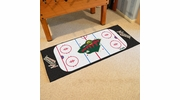 "Fan Mats 10400  NHL - Minnesota Wild 30"" x 72"" Rink-Shaped Runner Rug"
