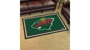 Fan Mats 10401  NHL - Minnesota Wild 4' x 6' Area Rug