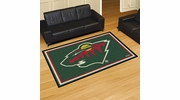 Fan Mats 10402  NHL - Minnesota Wild 5' x 8' Area Rug