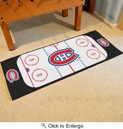 """Fan Mats 10409  NHL - Montreal Canadiens 30"""" x 72"""" Rink-Shaped Runner Rug"""