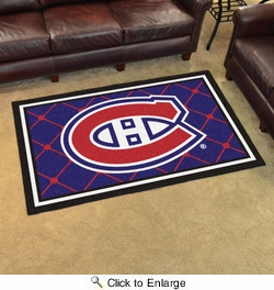 Fan Mats 10410  NHL - Montreal Canadiens 4' x 6' Area Rug