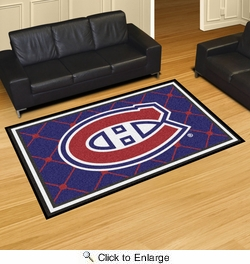 Fan Mats 10411  NHL - Montreal Canadiens 5' x 8' Area Rug