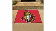 "Fan Mats 10423  NHL - Ottawa Senators 33.75"" x 42.5"" All-Star Series Area Rug / Mat"
