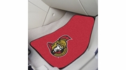 "Fan Mats 10426  NHL - Ottawa Senators 17"" x 27"" Carpeted Car Mat Set"
