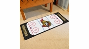 "Fan Mats 10429  NHL - Ottawa Senators 30"" x 72"" Rink-Shaped Runner Rug"
